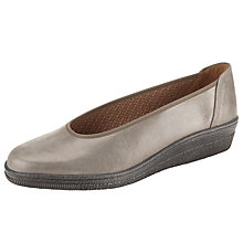 Buy Gabor Piquet Suede Pumps, Beige Glitter Online at johnlewis.com