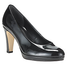 Buy Gabor Splendid Patent Court Shoes, Black Online at johnlewis.com