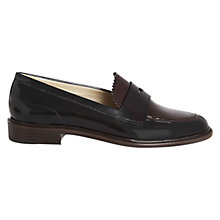 Buy Hobbs London Wynne Loafer Shoes, Black/Burgundy Online at johnlewis.com