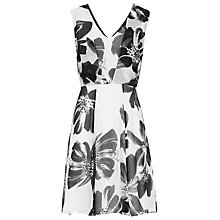 Buy Reiss Alice Floral Print Dress, Black/White Online at johnlewis.com
