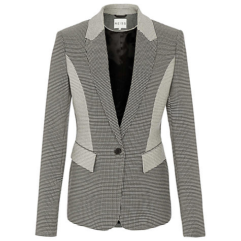 Buy Reiss Ashberry Jacket, Black/White Online at johnlewis.com
