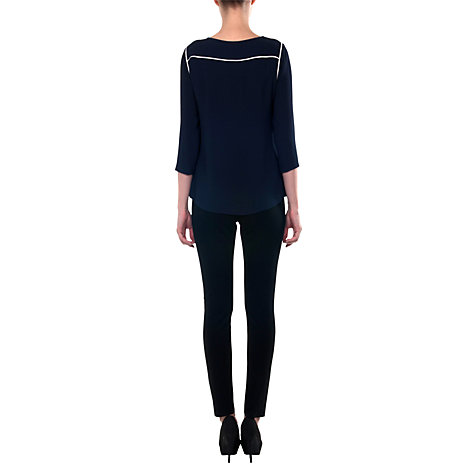 Buy allegra by Allegra Hicks Bella Top, Navy Online at johnlewis.com