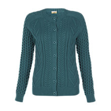 Buy NW3 by Hobbs Etty Cardigan, Peacock Online at johnlewis.com
