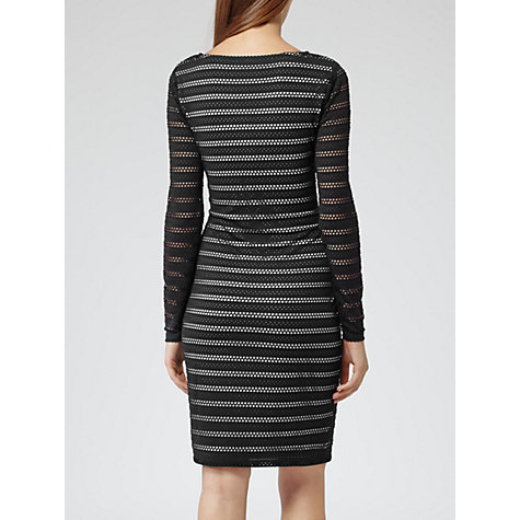 Buy Reiss Cole Broderie Bodycon Dress, Black Online at johnlewis.com