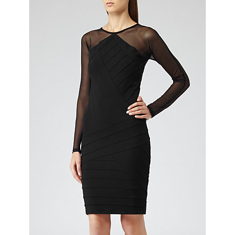 Buy Reiss Calo Bodycon Dress, Black Online at johnlewis.com