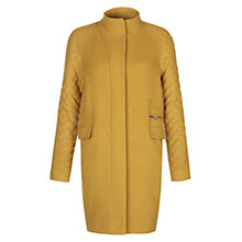 Buy Hobbs Penny Quilted Coat, Mustard Online at johnlewis.com