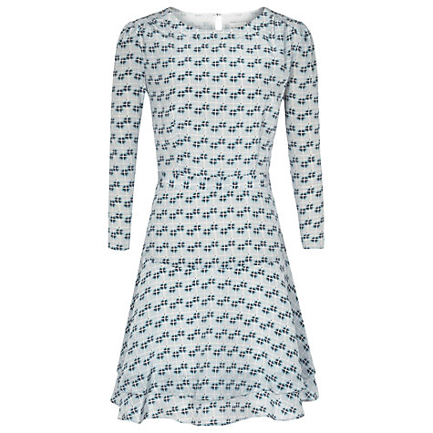 Buy Reiss Giselle Check Frill Dress, Blue Online at johnlewis.com