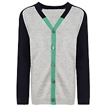Buy Kin by John Lewis Boys' Colour Block Cardigan, Grey/Navy/Green Online at johnlewis.com