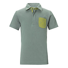 Buy Kin by John Lewis Print Pique Polo Top, Green/Yellow Online at johnlewis.com