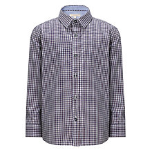 Buy John Lewis Heirloom Collection Boys' Edessa Long Sleeve Check Shirt, Navy Online at johnlewis.com
