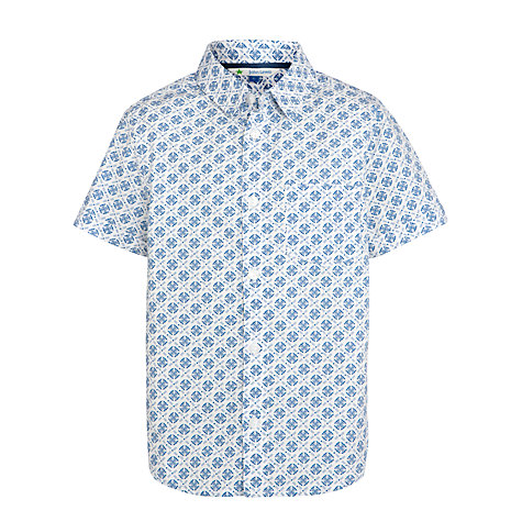 Buy John Lewis Boy Geo Print Shirt, Blue Online at johnlewis.com
