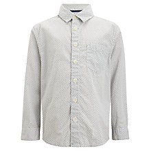 Buy John Lewis Heirloom Collection Boys' Geo Print Shirt, Neutral Online at johnlewis.com