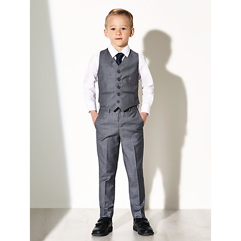 Buy John Lewis Heirloom Collection Boys' Sharkskin Waistcoat, Grey Online at johnlewis.com