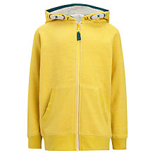 Buy John Lewis Boy Zip-Through Hoodie, Yellow Online at johnlewis.com