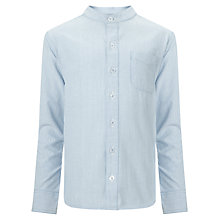Buy John Lewis Heirloom Collection Boys' Nehru Collar Shirt, Blue/White Online at johnlewis.com