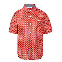 Buy John Lewis Boy Geo Print Shirt, Red Online at johnlewis.com