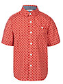 John Lewis Boy Geo Print Shirt, Red