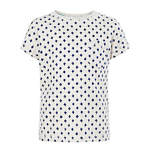 Buy Kin by John Lewis Geo Print Top, Grey Online at johnlewis.com