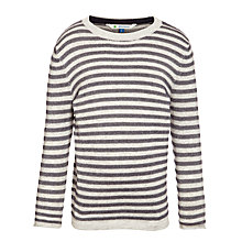 Buy John Lewis Boy Stripe Crew Jumper, Navy Online at johnlewis.com
