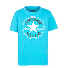 Buy Converse Boys' Chuck Logo Print T-Shirt, Turquoise Online at johnlewis.com