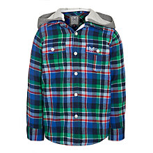 Buy Crew Clothing Boys' Bryant Checked Hooded Shirt, Multi Online at johnlewis.com