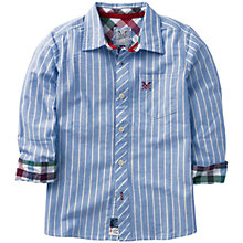 Buy Crew Clothing Boys' Daly Stripe Shirt, Blue/Multi Online at johnlewis.com