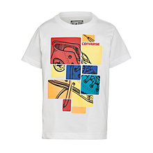 Buy Converse Boys' Collage Boot T-Shirt, White Online at johnlewis.com