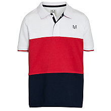 Buy Crew Clothing Boys' Dudley Polo Shirt, Red Online at johnlewis.com