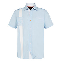 Buy Hackett London Boys' Aston Martin Racing Shirt, Sky Blue Online at johnlewis.com