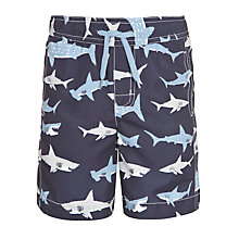 Buy Hatley Boys' Shark Swim Shorts, Navy/Blue Online at johnlewis.com