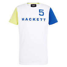 Buy Hackett London Boys' Aston Martin Racing T Shirt, White/Multi Online at johnlewis.com
