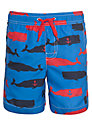 Hatley Boys' Whale Print Swim Shorts, Blue/Multi