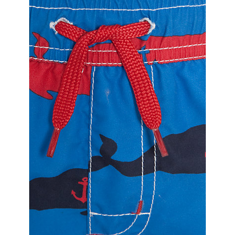Buy Hatley Boys' Whale Print Swim Shorts, Blue/Multi Online at johnlewis.com