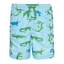 Buy Hatley Boys' Later Gator Swim Shorts, Blue/Green Online at johnlewis.com