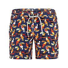 Buy Hackett London Boys' Toucan Swim Shorts, Blue/Multi Online at johnlewis.com