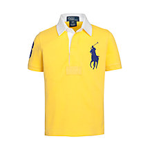 Buy Polo Ralph Lauren Boys' Big Pony Polo Top, Yellow Online at johnlewis.com