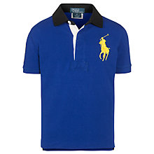 Buy Polo Ralph Lauren Boys' Big Pony Polo Shirt, Blue Online at johnlewis.com