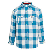 Buy Crew Clothing Boys' Wendell Checked Shirt, Blue Online at johnlewis.com