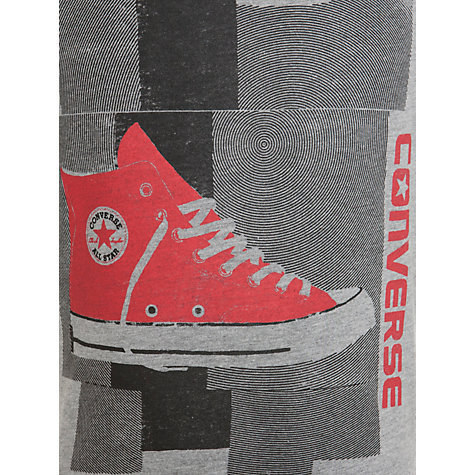 Buy Converse Boys' Hi-Top Short Sleeve T-Shirt, Grey Online at johnlewis.com