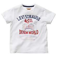 Buy Levi's Boys' Aly Short Sleeve T-Shirt, White Online at johnlewis.com