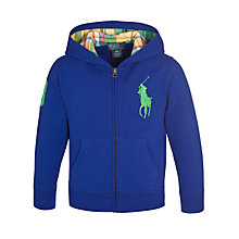 Buy Polo Ralph Lauren Boys' Full Zip Fleece Hoodie Online at johnlewis.com