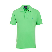 Buy Polo Ralph Lauren Boys' Custom Fit Polo Shirt, Green Online at johnlewis.com