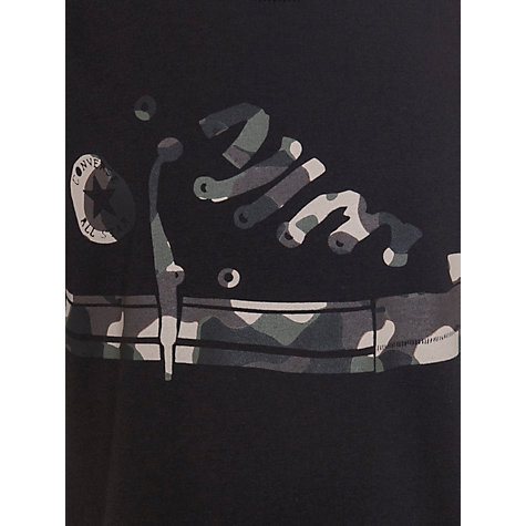 Buy Converse Boys' Camo Hi-Top T-Shirt, Black Online at johnlewis.com