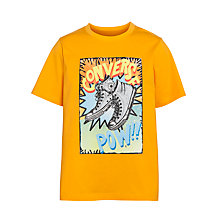 Buy Converse Boys' Graphic Pow T-Shirt, Orange Online at johnlewis.com