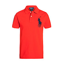 Buy Polo Ralph Lauren Boys' Big Pony Polo Top, Red Online at johnlewis.com