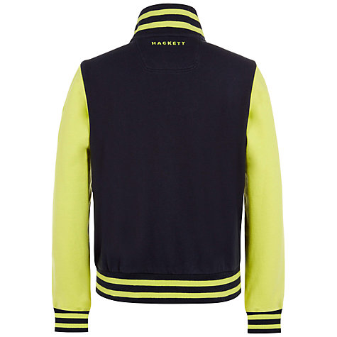 Buy Hackett London Boys' Aston Martin Racing Baseball Jacket, Black/Yellow Online at johnlewis.com