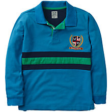 Buy Crew Clothing Boys' Elton Rugby Shirt, Blue/Multi Online at johnlewis.com