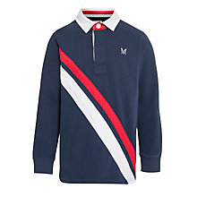 Buy Crew Clothing Boys' Douglas Rugby Top, Blue Online at johnlewis.com