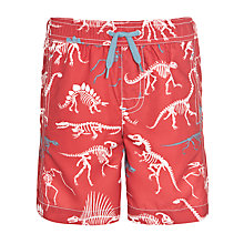 Buy Hatley Boys' Dino Bone Print Swim Shorts, Red Online at johnlewis.com