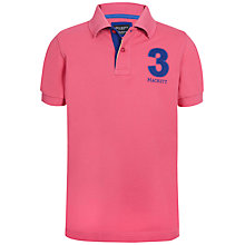 Buy Hackett London Boys' New Classic Polo Shirt, Pink/Blue Online at johnlewis.com